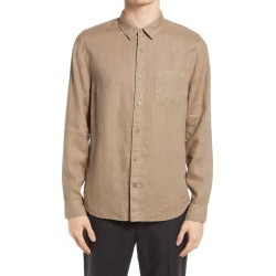Men's Vince Slim Fit Linen Shirt, Size Small - Brown found on Bargain Bro from Nordstrom for USD $148.20