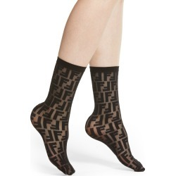 Women's Fendi Double F Logo Crew Socks found on MODAPINS from Nordstrom for USD $140.00