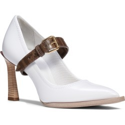 Women's Fendi Logo Strap Pointy Toe Pump, Size 7US / 37.5EU - White found on Bargain Bro Philippines from Nordstrom for $950.00
