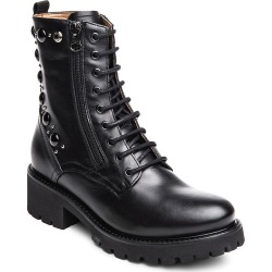 Women's Nerogiardini Studded Combat Boot, Size 11US - Black found on MODAPINS from Nordstrom for USD $245.00
