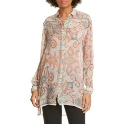Women's Etro Paisley High/low Silk Tunic, Size 8 US - Orange found on MODAPINS from LinkShare USA for USD $456.00