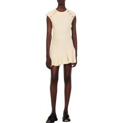 Women's Sandro Liliana Cap Sleeve Asymmetric Ruffle Hem Dress, Size 10 US - Ivory found on Bargain Bro Philippines from Nordstrom for $395.00