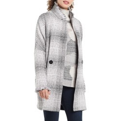 Petite Women's Nic+Zoe Plaid Please Jacket, Size Petite P - Grey found on Bargain Bro from Nordstrom for USD $90.29