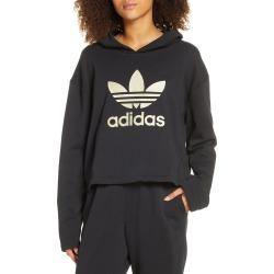 Women's Adidas Originals Logo Applique Hoodie, Size Large - Black
