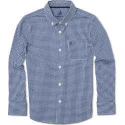 Boy's Johnnie-O Augusta Jr. Gingham Dress Shirt, Size 4 - Blue found on Bargain Bro India from Nordstrom for $32.98
