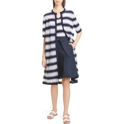 Women's Lafayette 148 New York Sheer Stripe Duster found on MODAPINS from Nordstrom for USD $538.80