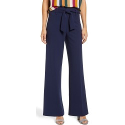 Women's Leith High Waist Belted Pants, Size XX-Small - Blue found on Bargain Bro India from Nordstrom for $59.00