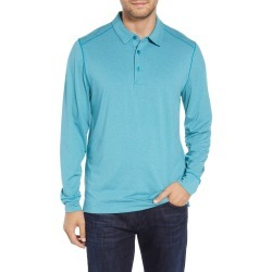 Men's Big & Tall Cutter & Buck Matthew Drytec Long Sleeve Polo, Size 2XB - Blue found on Bargain Bro from Nordstrom for USD $83.60