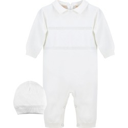 Infant Boy's Carriage Boutique Elegant Christening Romper & Hat Set, Size 6M - White found on Bargain Bro India from LinkShare USA for $52.00