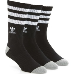 Men's Adidas Originals 3-Pack Original Roller Crew Socks, Size One Size - Black found on MODAPINS from Nordstrom for USD $18.00