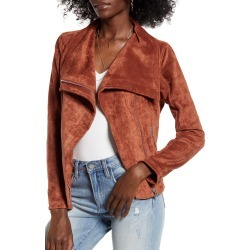 Women's Blanknyc Faux Suede Jacket, Size X-Small - Brown