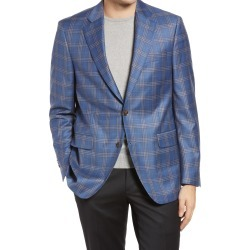 Men's Peter Millar Flynn Classic Fit Check Wool Sport Coat, Size 42 Short - Blue found on MODAPINS from Nordstrom for USD $322.50