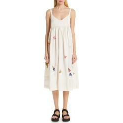 Women's Story Mfg. Daisy Midi Dress, Size Large - Ivory found on MODAPINS from Nordstrom for USD $545.00