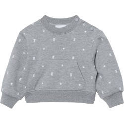 Toddler Girl's Burberry Mini Zia Tb Star Print Cotton Sweatshirt, Size 2Y - Grey found on Bargain Bro Philippines from Nordstrom for $180.00