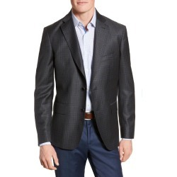 Men's John W. Nordstrom Classic Fit Plaid Wool Sport Coat, Size 38 R - Black found on Bargain Bro Philippines from Nordstrom for $224.55