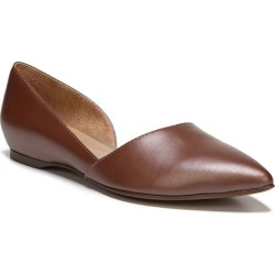 Women's Naturalizer Samantha Half D'Orsay Flat, Size 8.5 W - Brown found on Bargain Bro India from Nordstrom for $79.99
