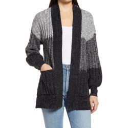 Women's Wit & Wisdom Colorblock Cardigan, Size Large - Grey (Nordstrom Exclusive) found on Bargain Bro from Nordstrom for USD $35.57