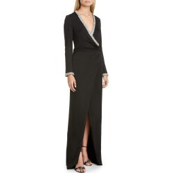 Women's Haney Tatum Crystal Long Sleeve Gown, Size 2 - Black found on Bargain Bro Philippines from LinkShare USA for $478.50