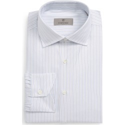 Men's Canali Regular Fit Stripe Dress Shirt found on MODAPINS from Nordstrom for USD $295.00