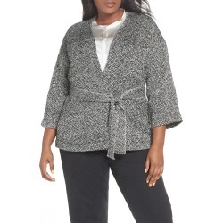 Plus Size Women's Eileen Fisher Organic Cotton Tweed Kimono Jacket