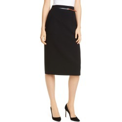 Women's Altuzarra Belted Pencil Skirt, Size 10 US - Black found on MODAPINS from LinkShare USA for USD $318.00