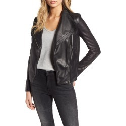 Women's Chelsea28 Leather Moto Jacket found on Bargain Bro India from Nordstrom for $299.00