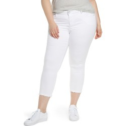 Plus Size Women's Slink Jeans Crop Straight-Leg Jeans found on MODAPINS from Nordstrom for USD $98.00
