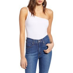 Women's Leith One-Shoulder Bodysuit, Size Large - White found on Bargain Bro India from Nordstrom for $29.00