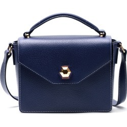 Frances Valentine Mini Midge Leather Satchel - Blue found on Bargain Bro India from Nordstrom for $228.00