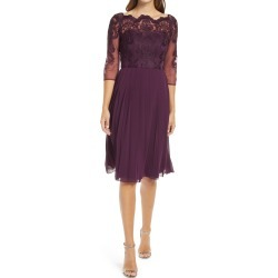 Women's Chi Chi London Melina Lace Bodice Fit & Flare Cocktail Dress, Size 8 - Purple found on MODAPINS from Nordstrom for USD $80.50