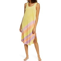 Women's Emerson Road Tie Dye Nightgown, Size Small - Yellow found on MODAPINS from Nordstrom for USD $78.00