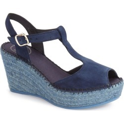 Women's Toni Pons Lidia T-Strap Espadrille Wedge, Size 6.5US / 37EU - Blue found on MODAPINS from Nordstrom for USD $64.95