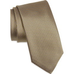 Men's Canali Solid Silk Tie, Size One Size - Yellow found on Bargain Bro from Nordstrom for USD $121.60