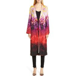 Women's Fuzzi Degrade Floral Duster, Size 10 US / 44 IT - Red found on Bargain Bro Philippines from Nordstrom for $263.98