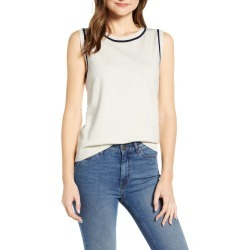 Women's Court & Rowe Tipped Cotton & Silk Sleeveless Sweater found on MODAPINS from Nordstrom for USD $27.60
