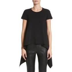 Women's Stella Mccartney Cutaway Top, Size 12 US - Black