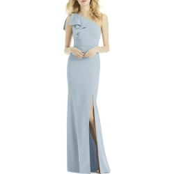 Women's After Six Bow One-Shoulder Trumpet Gown, Size 18 - Blue found on Bargain Bro Philippines from LinkShare USA for $263.00