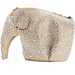 Loewe Embellished Elephant Mini Leather Crossbody Bag - Beige found on MODAPINS from LinkShare USA for USD $1800.00