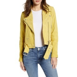 Women's Blanknyc Suede Moto Jacket, Size Small - Yellow found on Bargain Bro Philippines from Nordstrom for $198.00