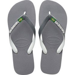 Men's Havaianas Brazil Mix Flip Flop, Size 11/12 M - Grey