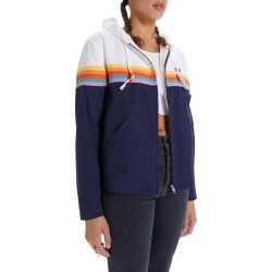 Women's Mother The Off The Lip Hooded Jacket, Size X-Small - Blue found on Bargain Bro from Nordstrom for USD $247.00