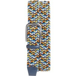 Men's Torino Belts Woven Belt, Size 38 - Navy Multicolor found on Bargain Bro India from Nordstrom for $90.00