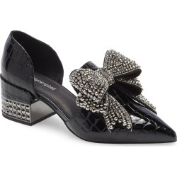 Women's Jeffrey Campbell Valenti Embellished Bow Loafer, Size 6 M - Black found on MODAPINS from Nordstrom for USD $209.95