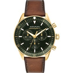 Men's Movado Heritage Chrono Leather Strap Watch, 42mm found on Bargain Bro India from Nordstrom for $637.50