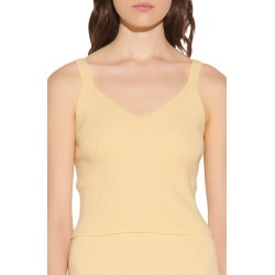 Women's Sandro Ribbed Wool Sweater Tank, Size 3 - Yellow found on Bargain Bro from Nordstrom for USD $110.20