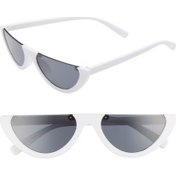 Women's Leith 54Mm Flat Top Sunglasses - White found on Bargain Bro India from Nordstrom for $19.00