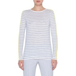 Women's Akris Punto Multicolor Stripe Knit Pullover, Size 14 - Grey found on MODAPINS from Nordstrom for USD $495.00