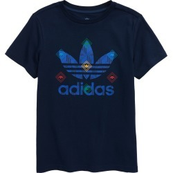 Boy's Adidas Originals Kids' Logo Graphic Tee, Size S - Blue found on MODAPINS from Nordstrom for USD $18.75