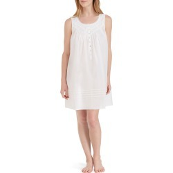 Women's Eileen West Cotton Nightgown, Size Large - White found on MODAPINS from Nordstrom for USD $58.00