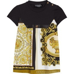 Infant Girl's Versace Patchwork Cotton Dress, Size 9-12M - Black found on MODAPINS from Nordstrom for USD $310.00